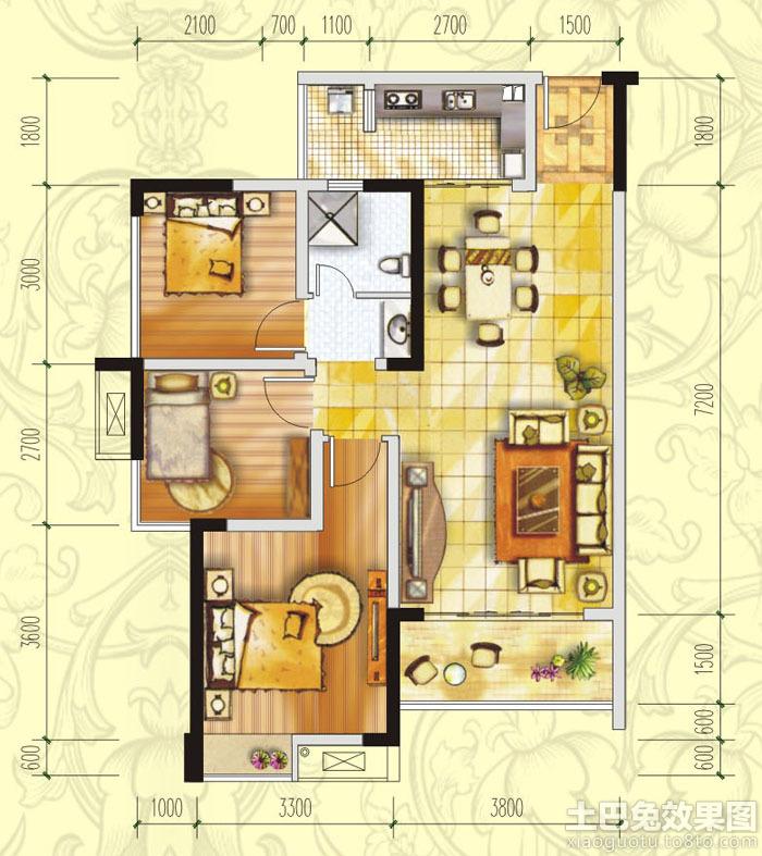 一梯四户中间户型90平米木工设计图展示图片