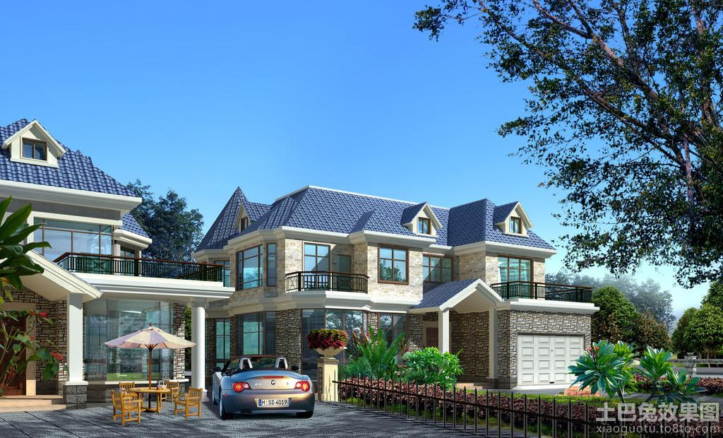 欧式二层别墅外观图欣赏装修效果图
