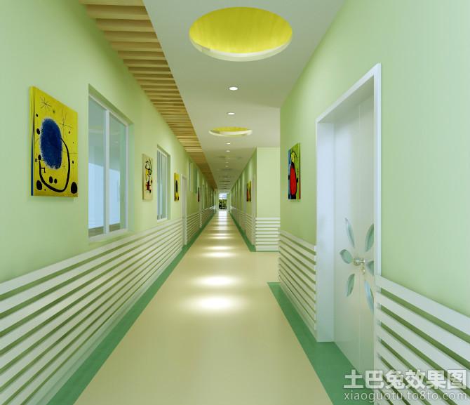 幼儿园走廊颜色 效果图