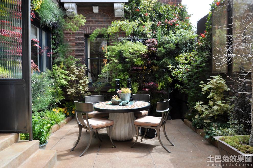 别墅庭院景观设计实景图装修效果图