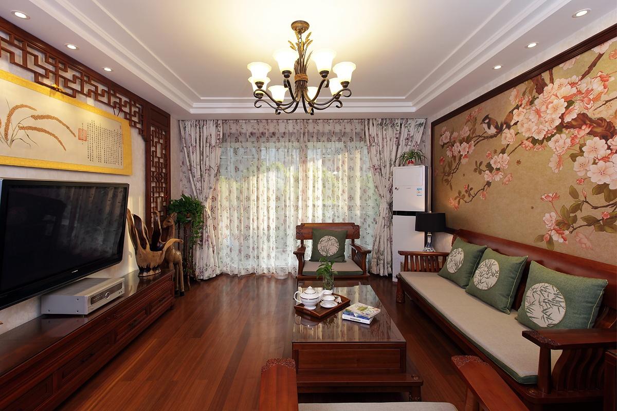 中式客厅吊顶灯效果图装修效果图_第1张 - 家居图库