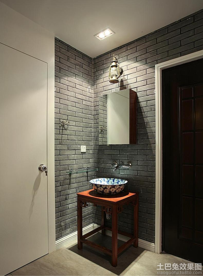 中式洗手间仿古砖装修效果图 (1/7)图片