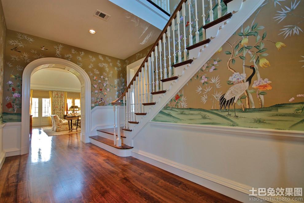 别墅过道室内墙体彩绘图片装修效果图 第5张 家居图库 九正家居网