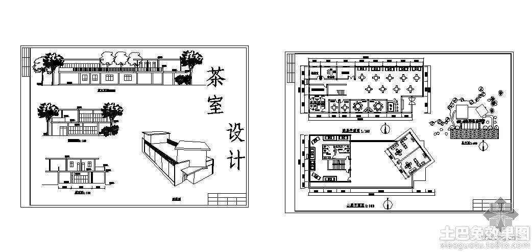 国外工作室设计平面图复古店面咖啡屋设计图图片