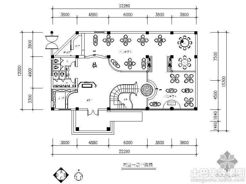 临水茶室设计平面图装修效果图 第4张 家居图库 九正家居网