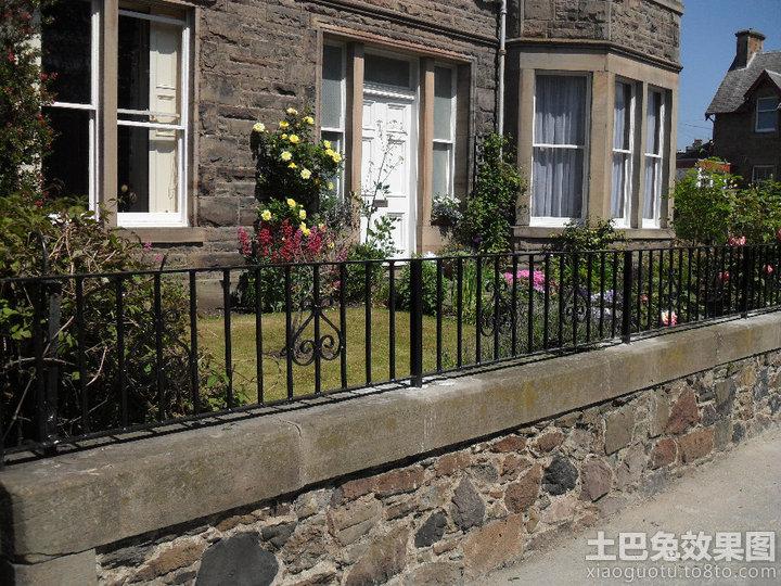 别墅欧式铁艺围墙效果图装修效果图