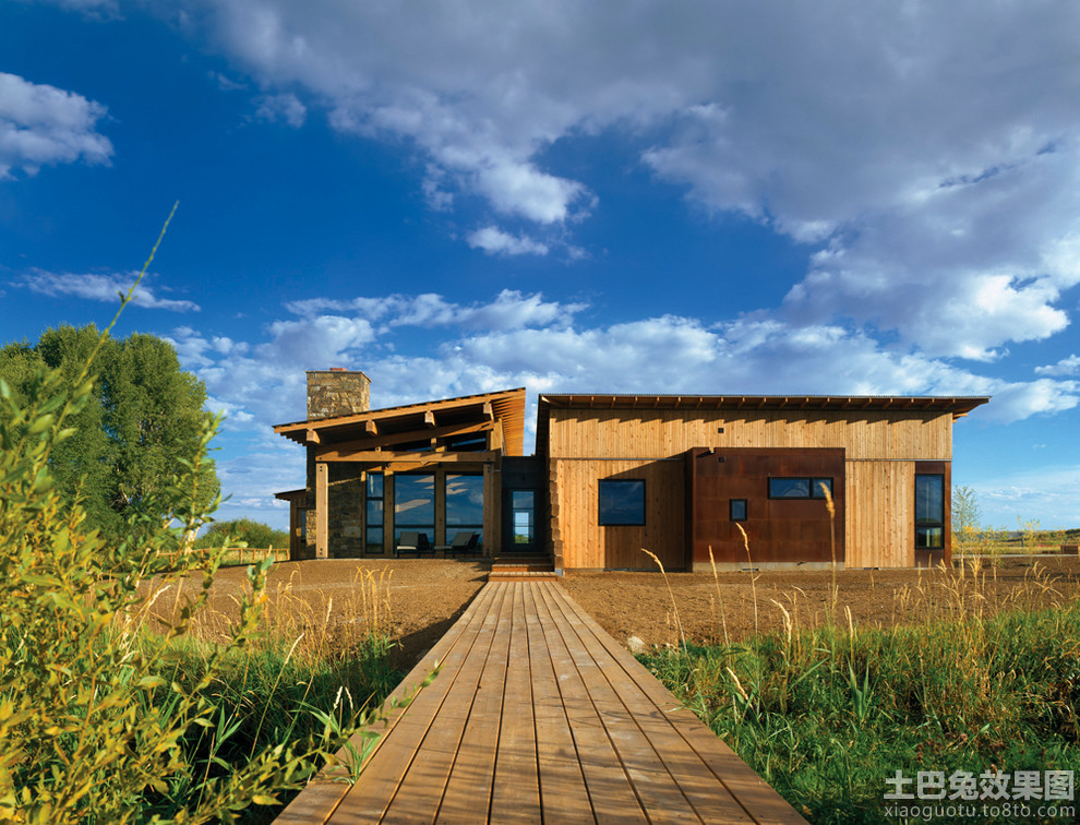 一层木结构房屋效果图装修效果图