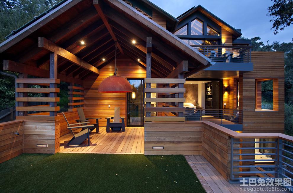农村木结构房屋效果图欣赏装修效果图