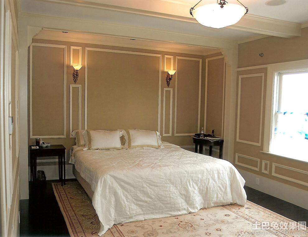 卧室护墙板效果图装修效果图