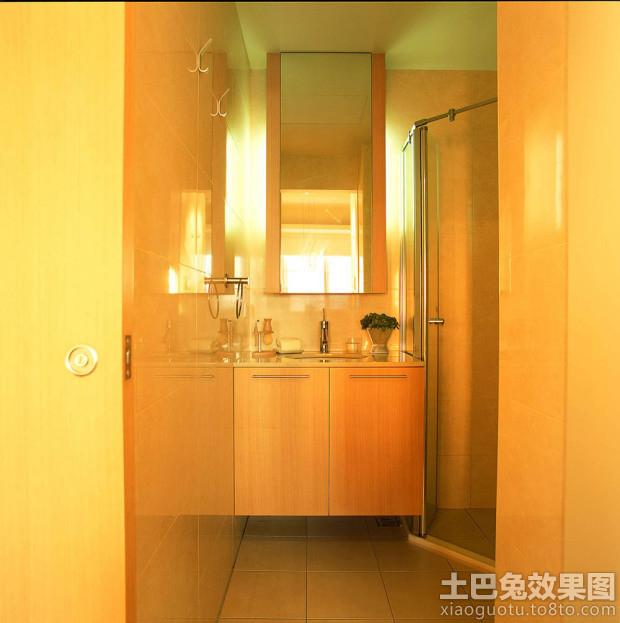 暖色调装修卫生间图片