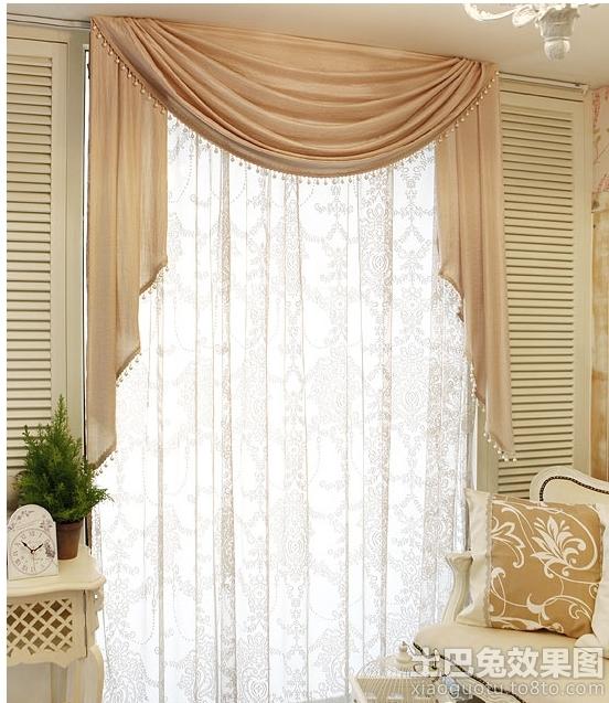 室内装修窗幔图片装修效果图