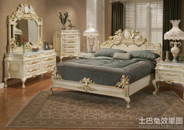 洛可可风格装修卧室效果图高清图片