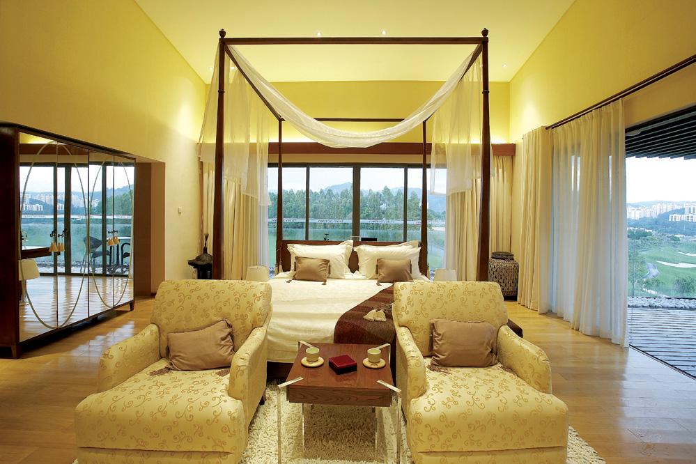 后现代别墅卧室装修效果图片