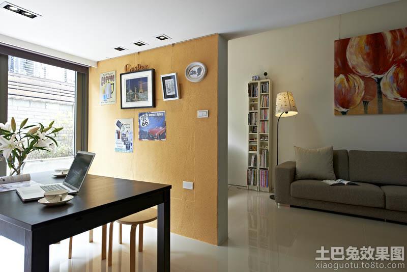 客厅与书房隔断墙装修设计 2 4高清图片