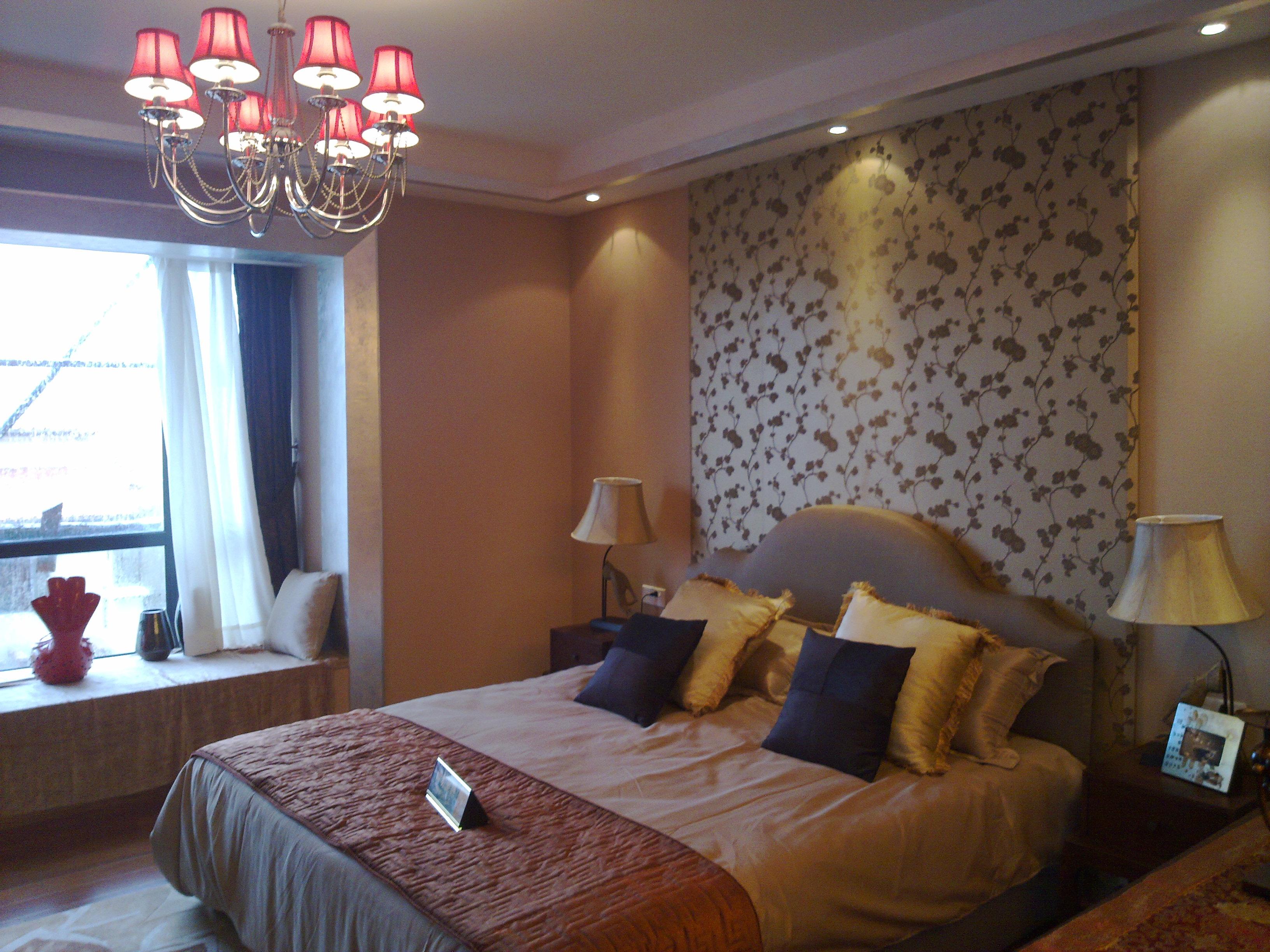 中式风格卧室飘窗设计效果图大全装修效果图