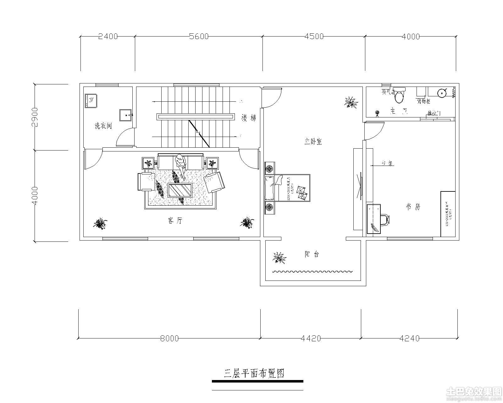 三层房屋设计平面图装修效果图_第10张 - 家居图库