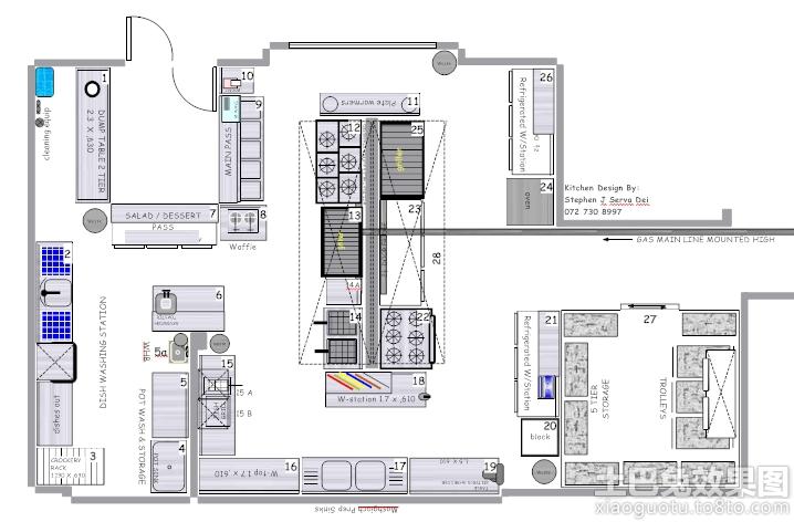 酒店厨房设计平面图