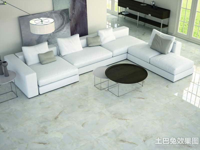 客厅白色瓷砖地板贴图 (2/9)