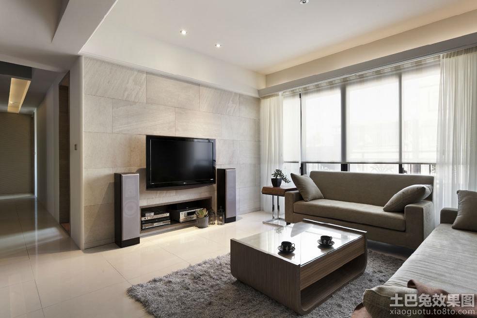 瓷磚電視背景墻裝修效果圖 現代