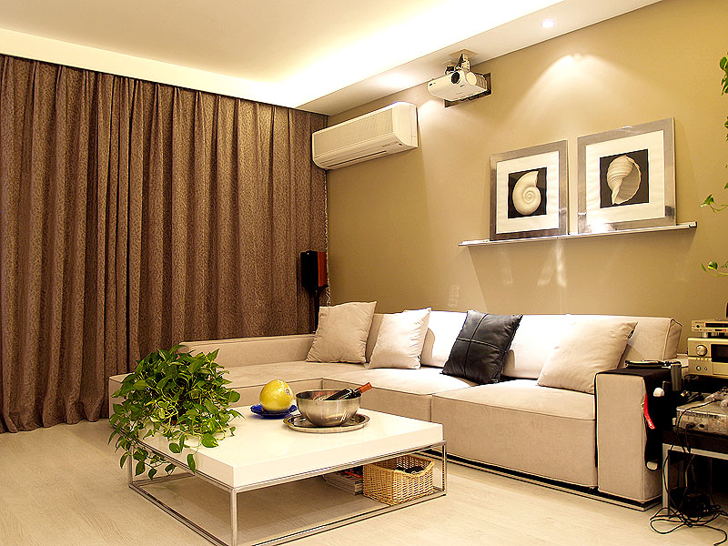 现代风格40平米小户型客厅装修效果图 (6/6)