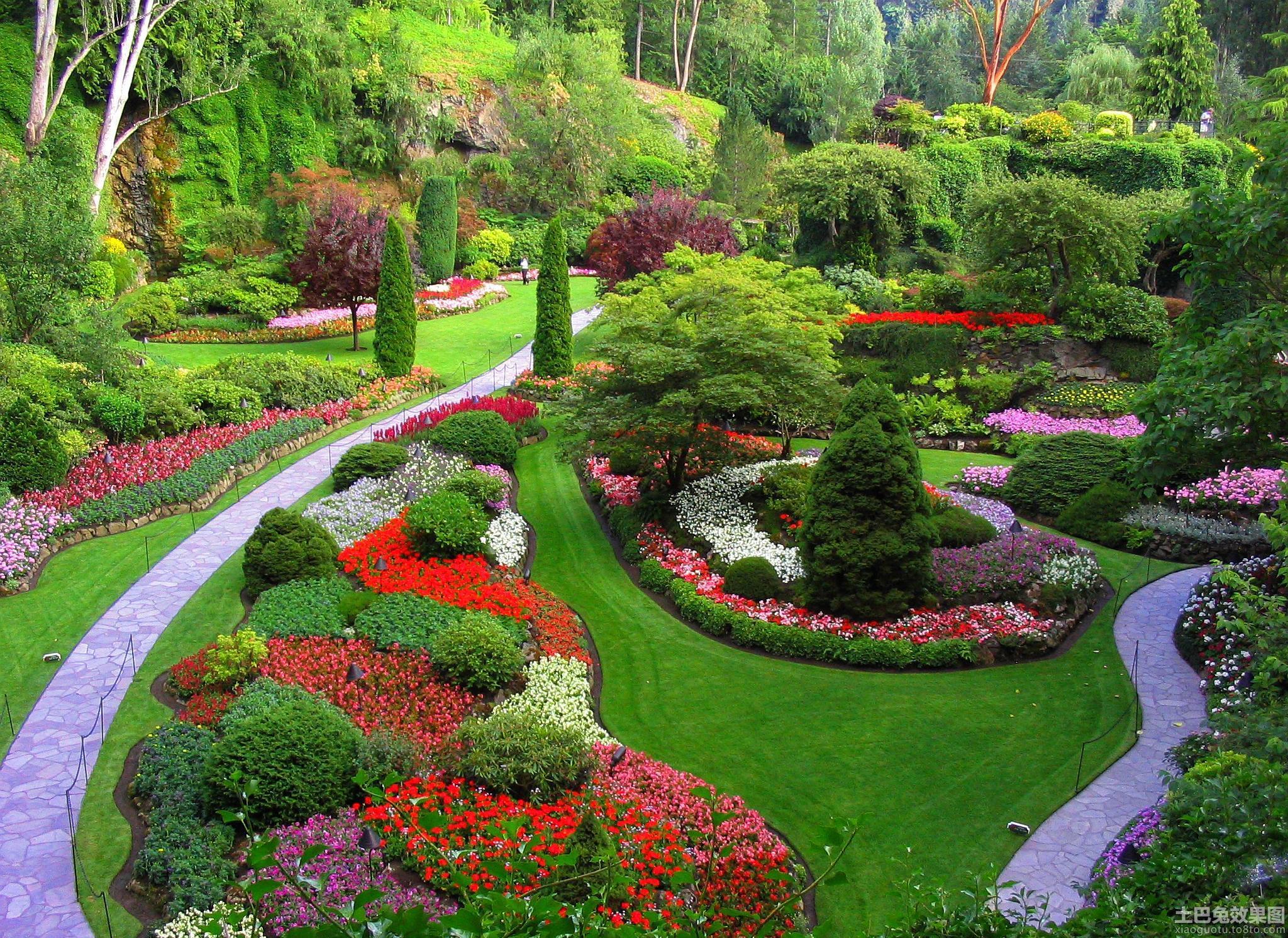 私人别墅花园设计效果图装修效果图 第6张 家居图库 九正家居网