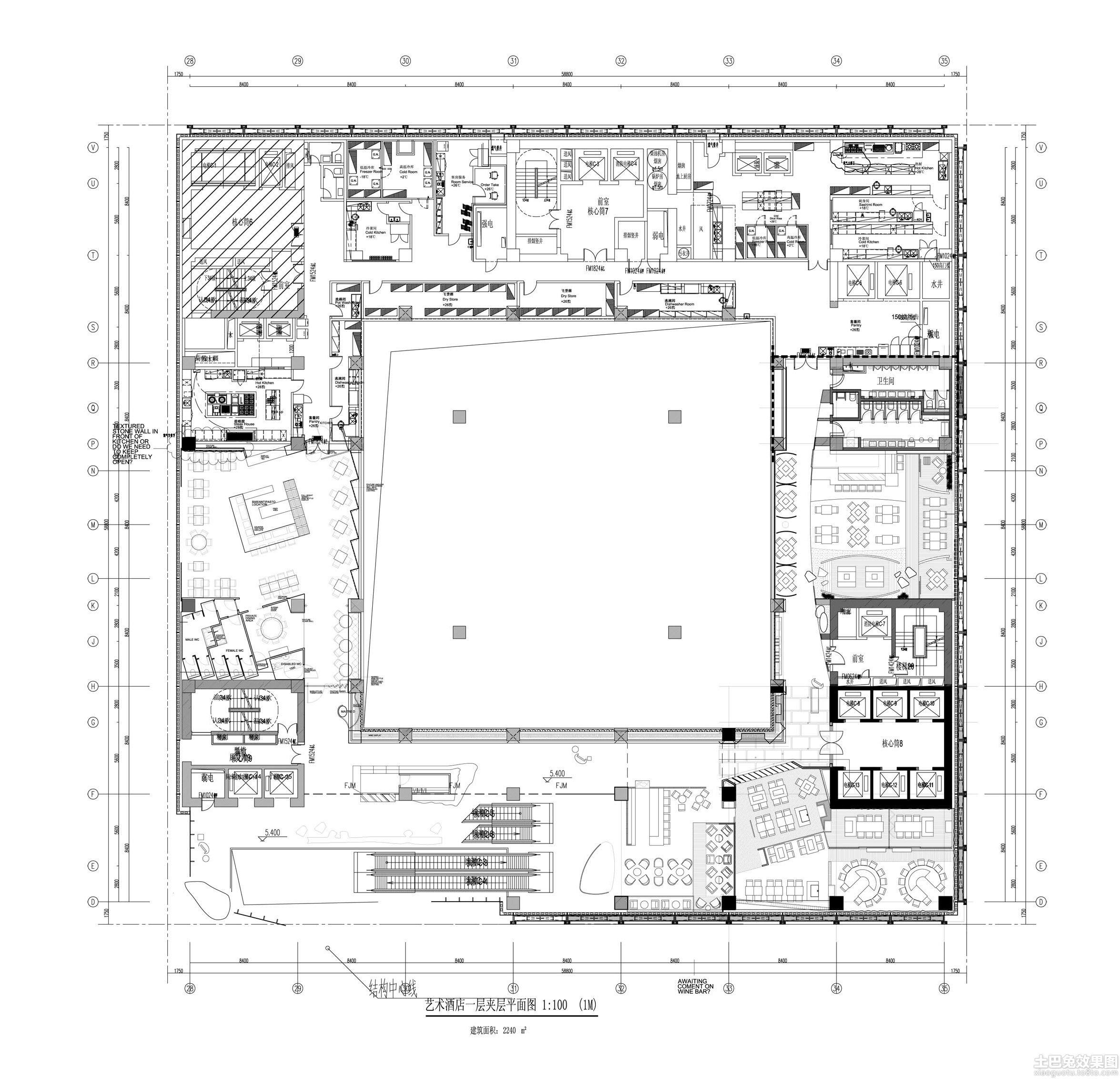 旅馆建筑设计平面图_建筑小品平面素材_素材分享