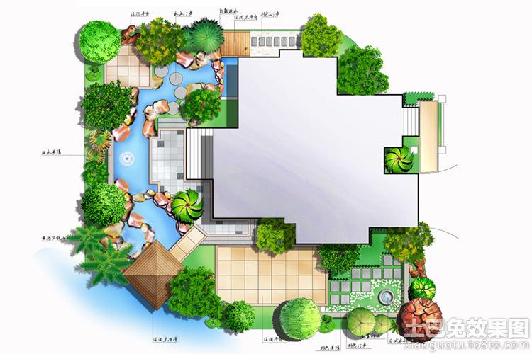 人别墅园林设计平面图装修效果图 第8张 家居图库 九正家居网