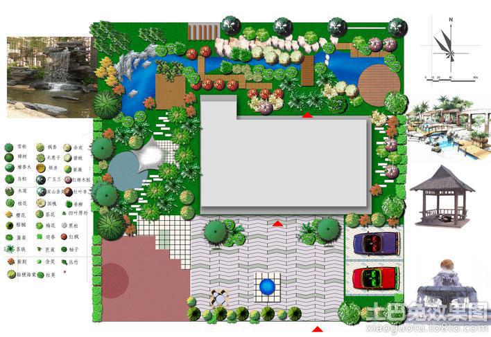 别墅园林设计平面图装修效果图