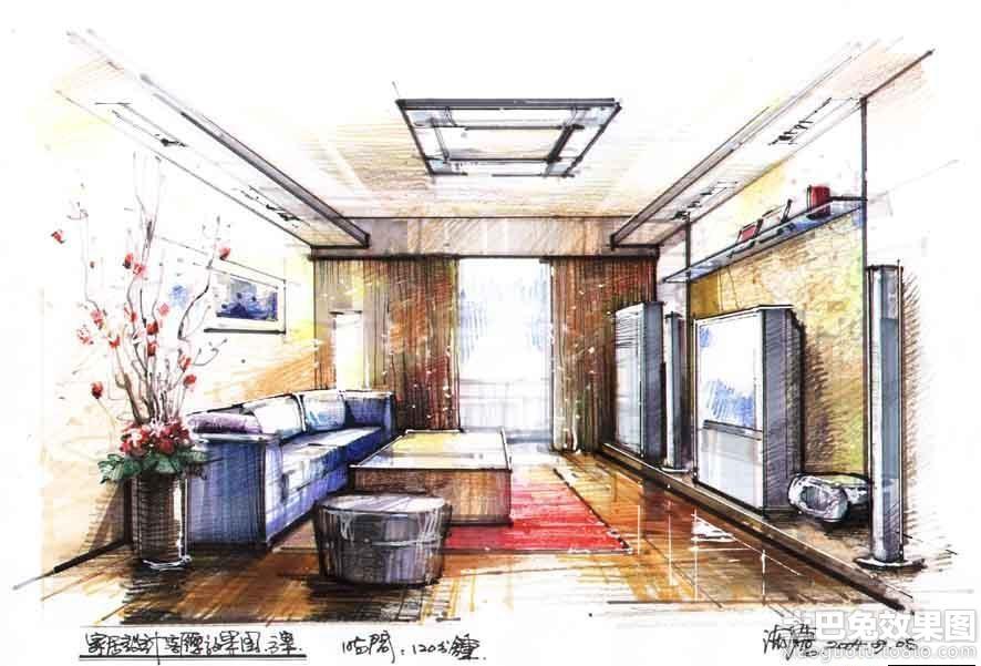 彩铅室内设计手绘效果图装修效果图_第6张 - 家居图库