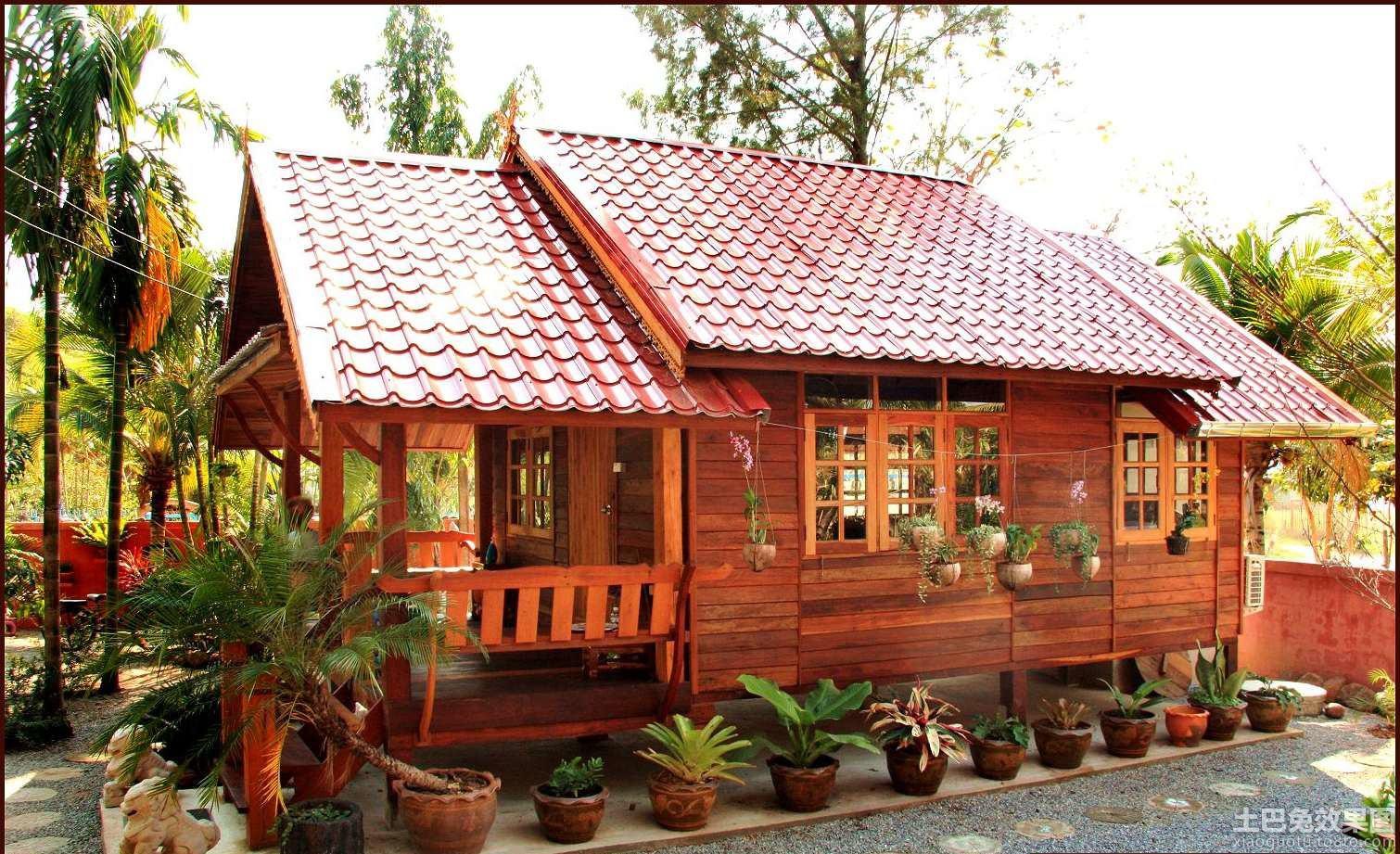 中式木结构房屋图片装修效果图