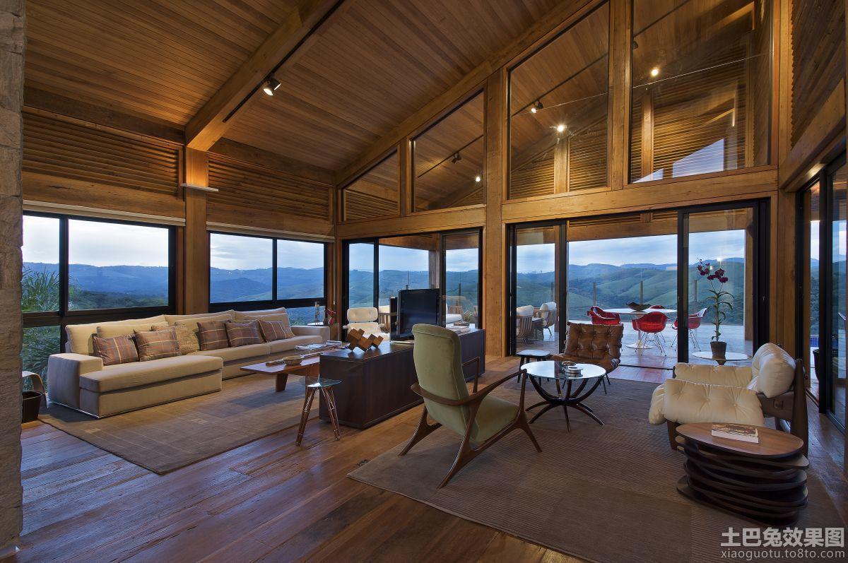 大型木结构房屋图片装修效果图