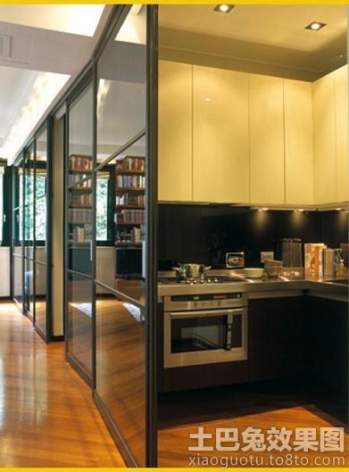 开放式厨房隔断门装修效果图 (2/6)图片