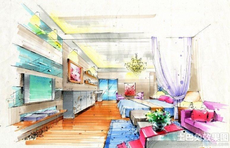 一居室室内设计手绘效果图装修效果图_第11张 - 家居
