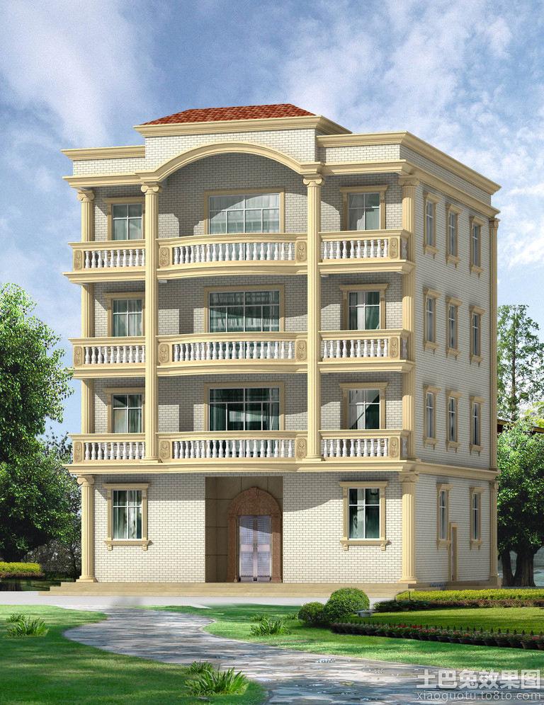 家居图库 两层半农村自建房设计图 > 第6张图片