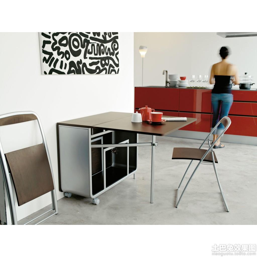 靠墙多功能餐桌图片装修效果图 第7张 家居图库 九正家居网高清图片