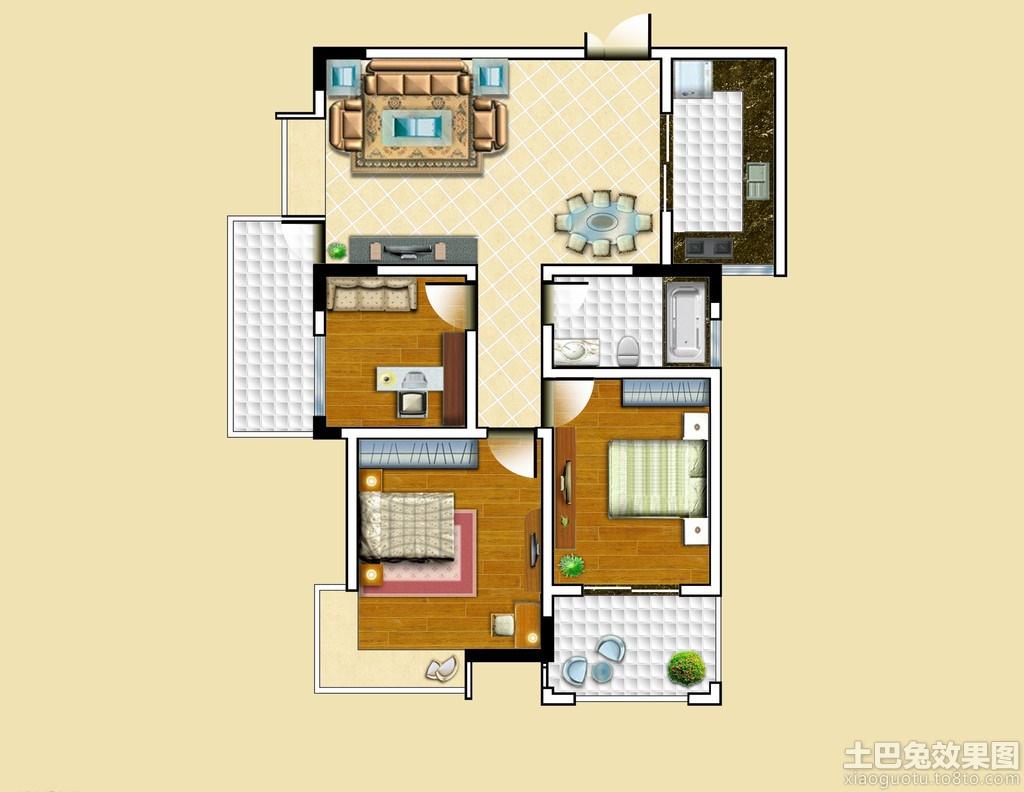 长方形房子设计图平面图装修效果图 第6张 家居图库 九正家居网高清图片