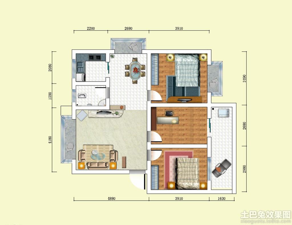 房子设计图平面图装修效果图