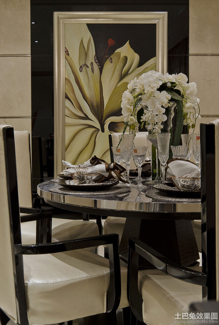 欧式餐厅墙绘装修效果图装修效果图