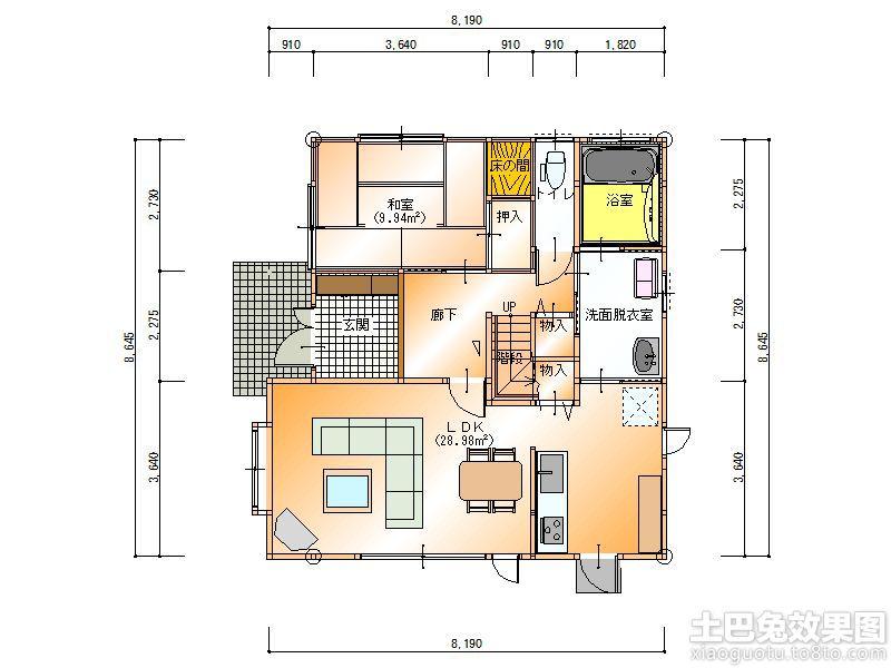 日本房间平面图设计装修效果图