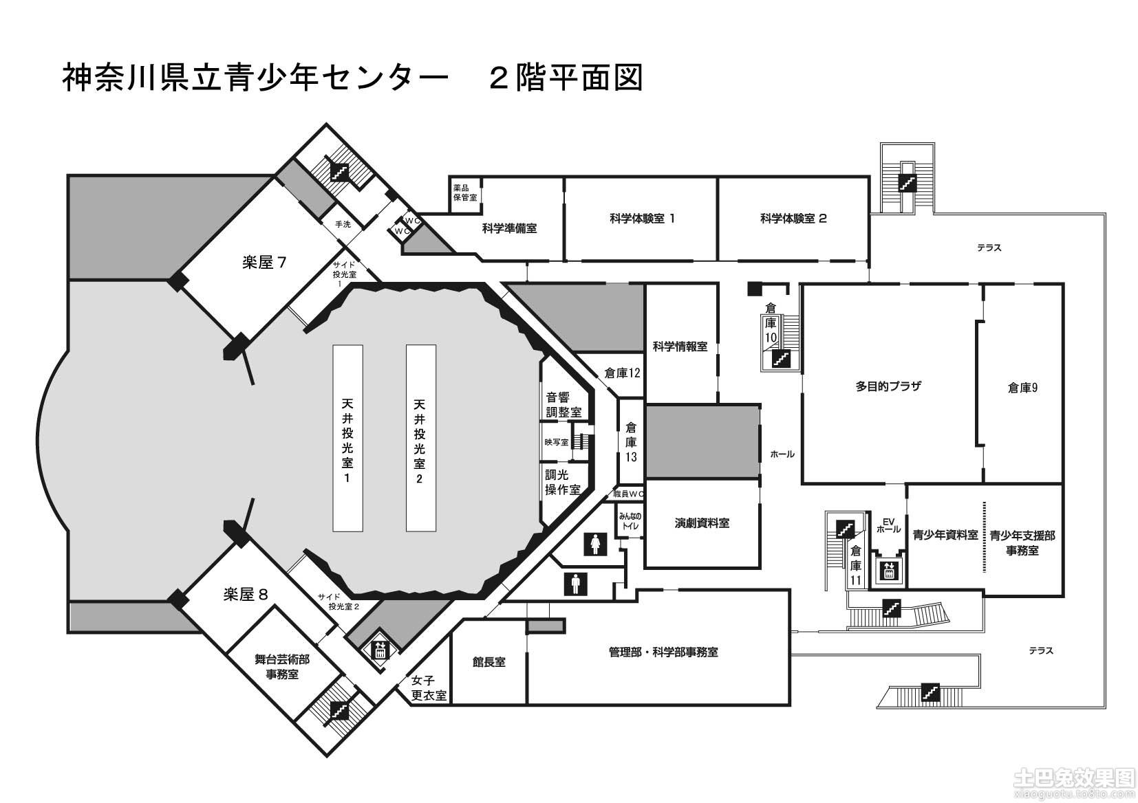 日本学校建筑平面图 (4/13)