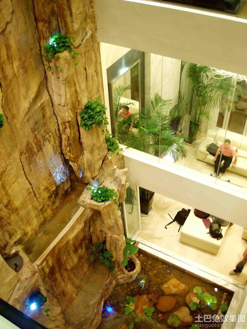 木头结构天井商业街