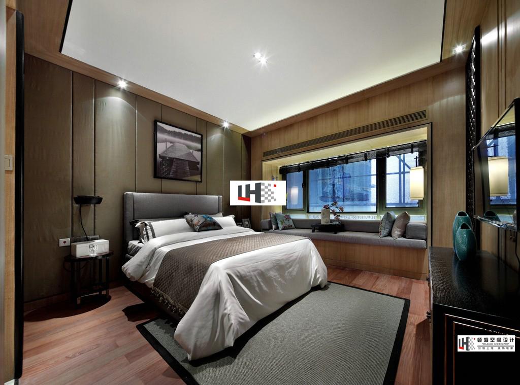 中式现代卧室设计图装修效果图