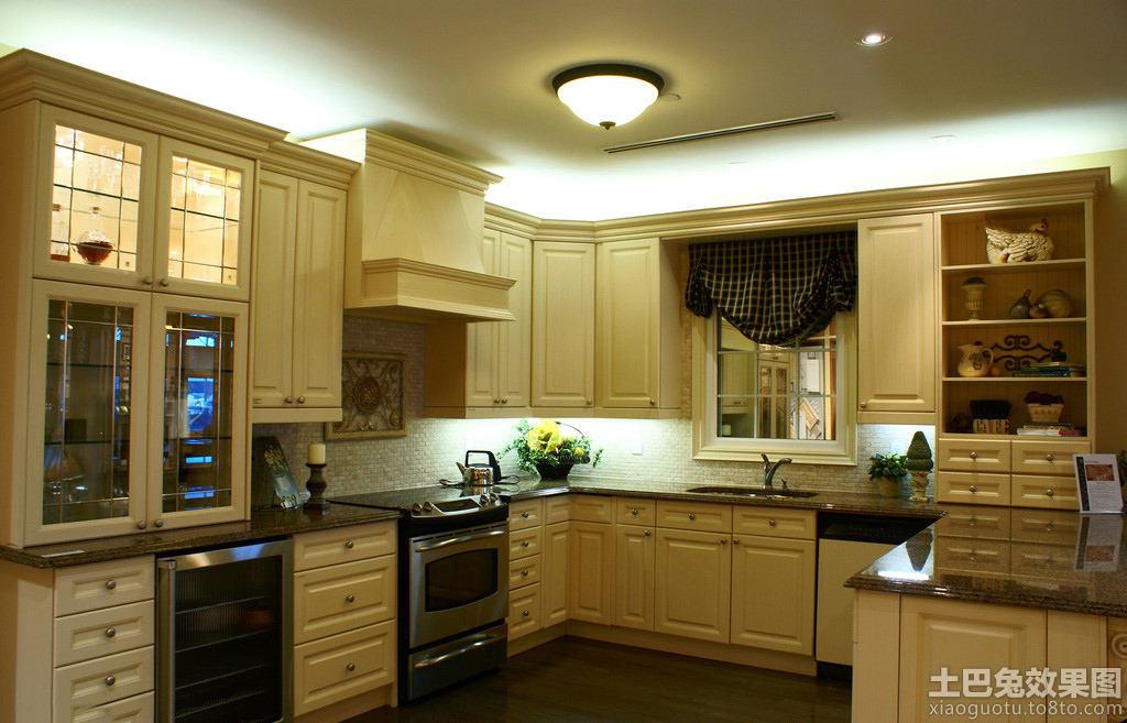 美式风格一体式厨房装修 (10/10)图片