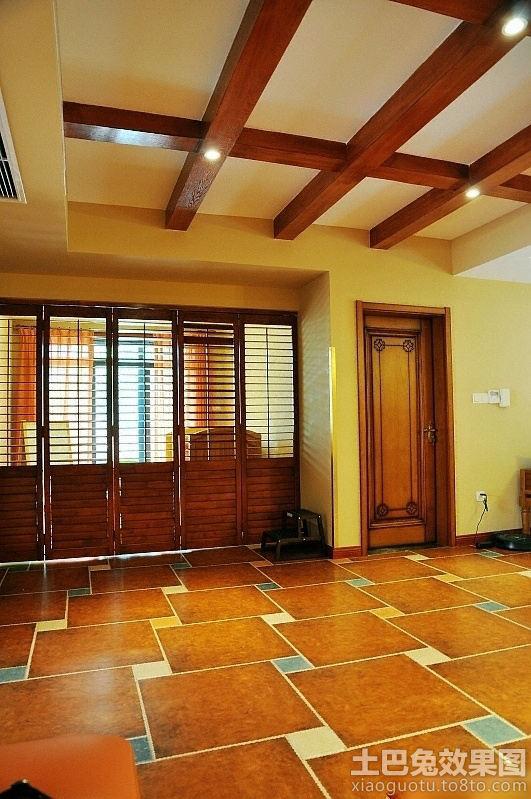 东南亚风格室内地板砖拼花贴图效果装修效果图 第4张 家居高清图片