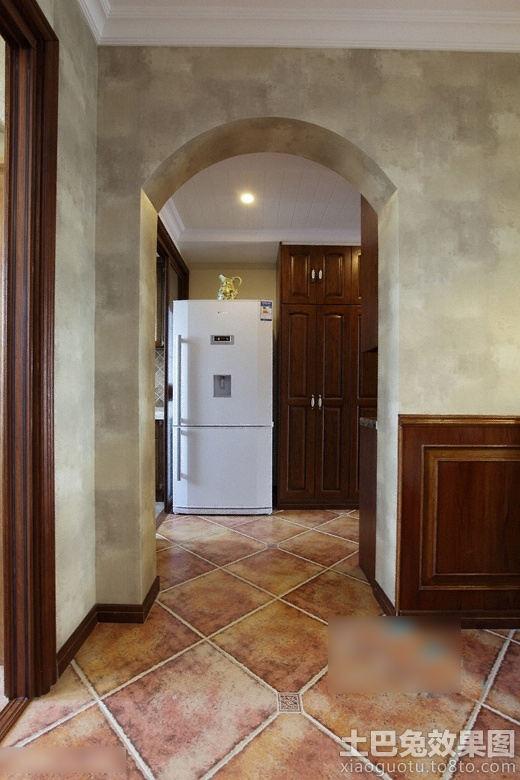 美式风格室内垭口地板装修效果图装修效果图 第3张 家居图库 九正家高清图片