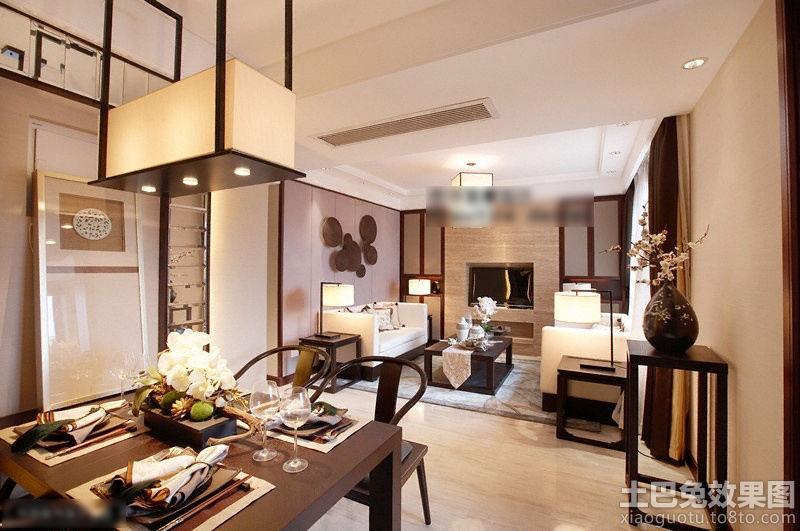 新中式80平米小户型餐厅方形吊灯设计装修效果图 第5张 家居图库 九高清图片