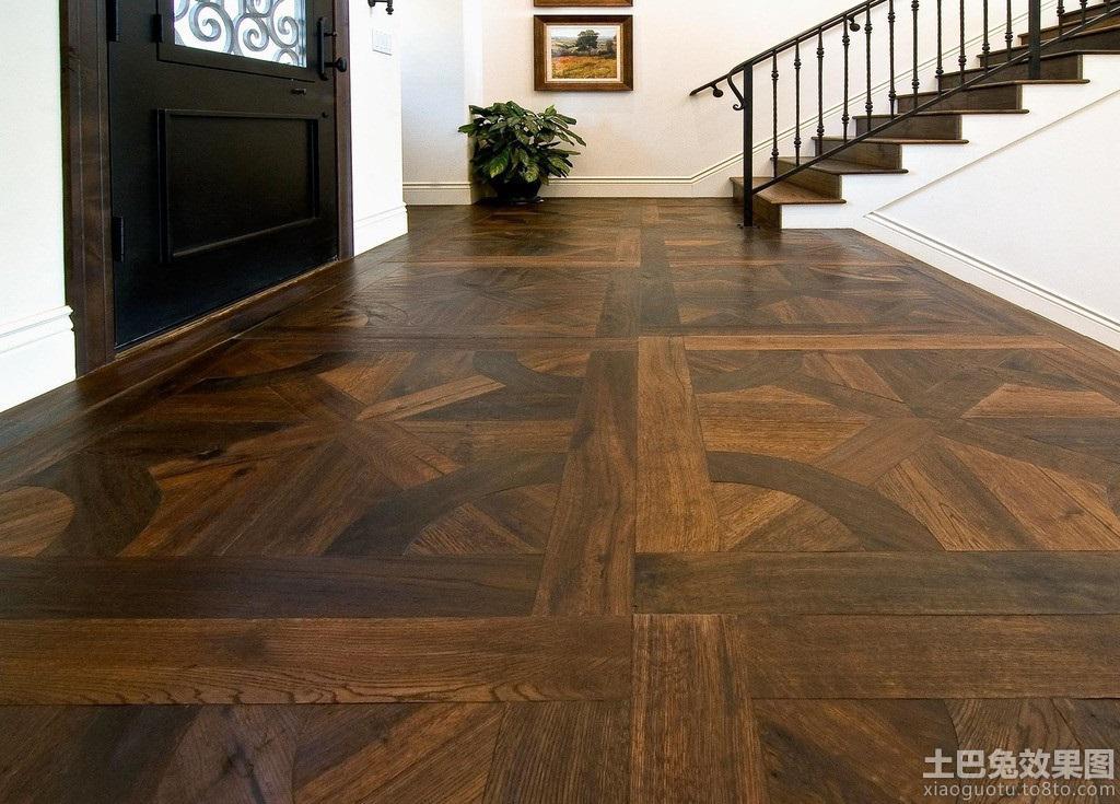 深色实木地板贴图装修效果图
