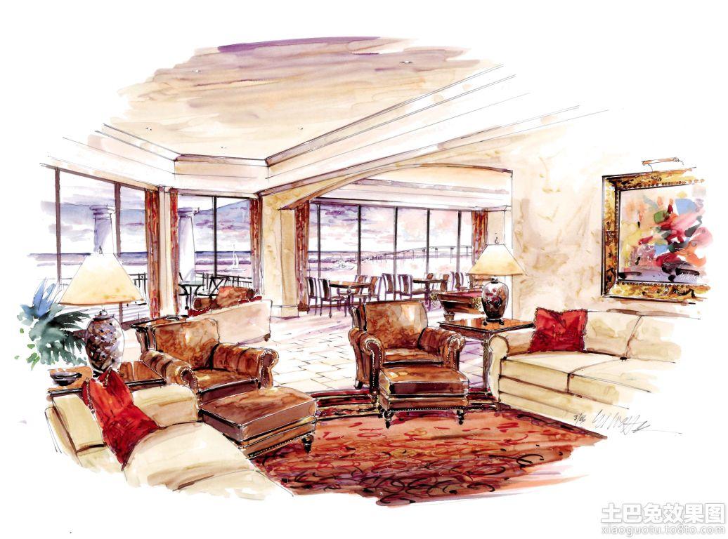 室内马克笔手绘效果图欣赏装修效果图_第3张 - 家居