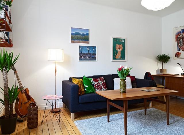时尚混搭风格小客厅装修图