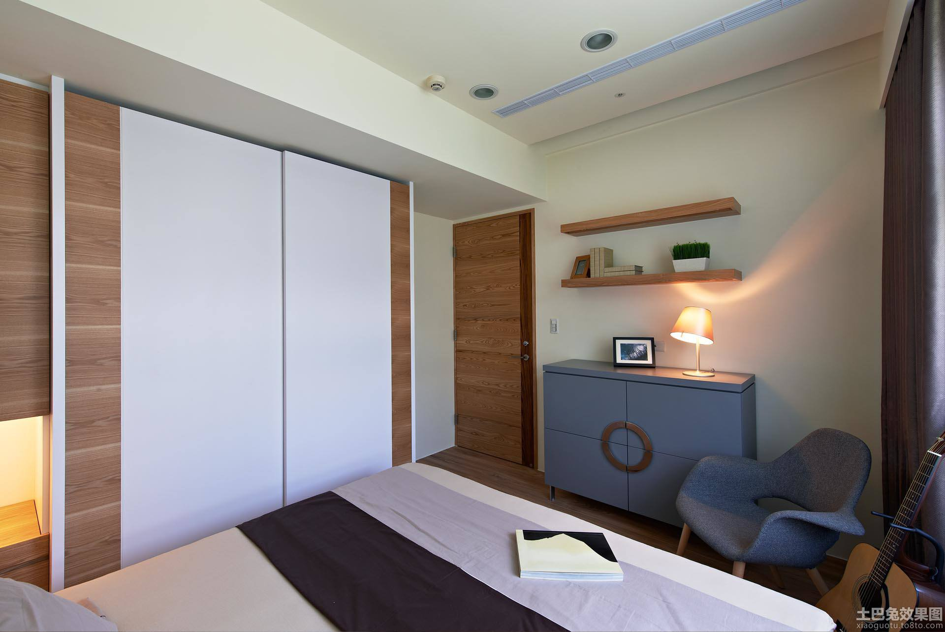 简约风格卧室壁柜门效果图装修效果图